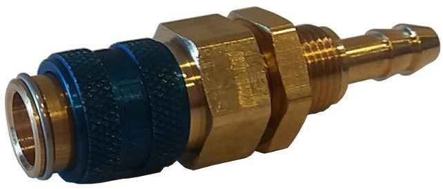 Szybkozłączka - gniazdo Typ 21 na wąż 6 mm (niebieska)