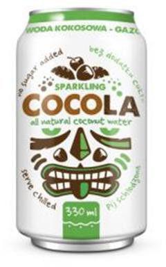 Woda kokosowa gazowana 330 ml 4 szt.