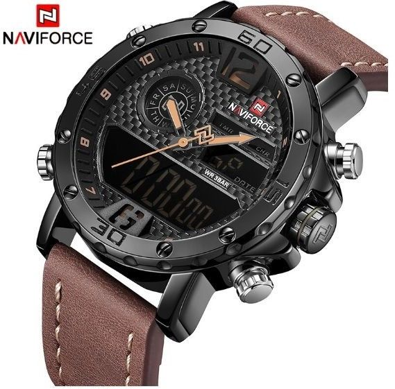 Zegarek Naviforce NF9134 jasny brąz