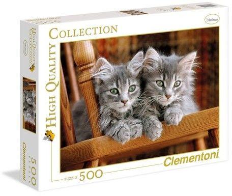 Puzzle Clementoni 500 - HQ - Kotki, Kittens