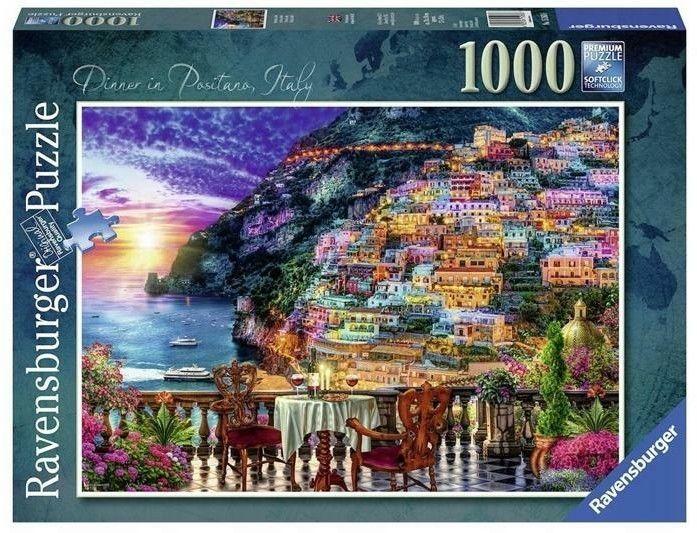Puzzle Ravensburger 1000 - Positano, Włochy, Dinner in Positano, Italy