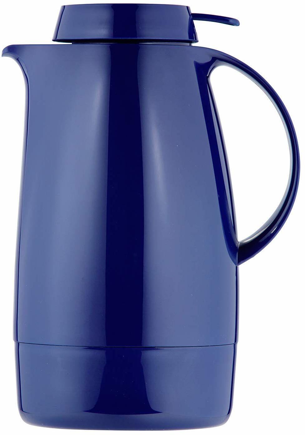 Helios Servitherm termos, 1,3 litra, tworzywo sztuczne, ciemnoniebieski, obsługa jedną ręką