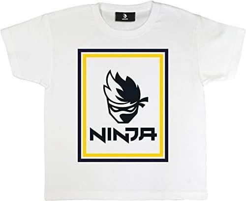 T-shirt dziewczęcy z logo Ninja oficjalne towary Wiek 7-14 lat, prezenty dla graczy, top dla dziewcząt, ubrania dla dzieci, pomysł na prezent urodzinowy dla dzieci