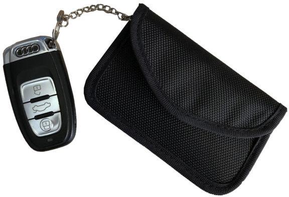 Etui zabezpieczające kluczyki z systemem Keyless M poziome czarne Darmowa dostawa