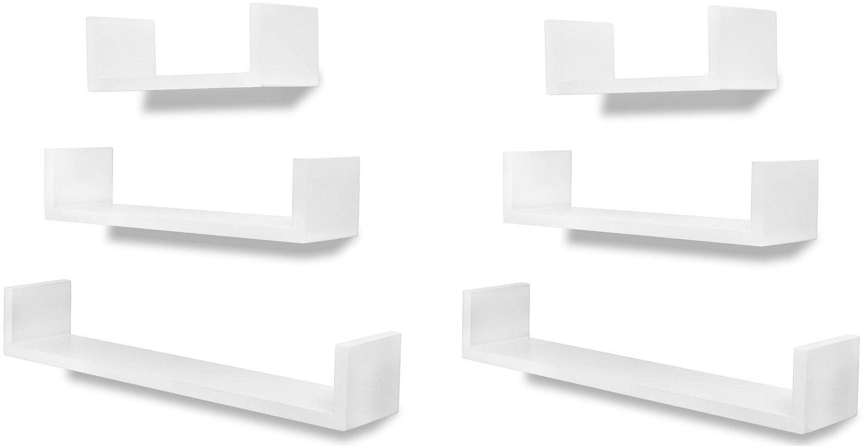 Zestaw modułowych półek ściennych Baffic 4X - biały