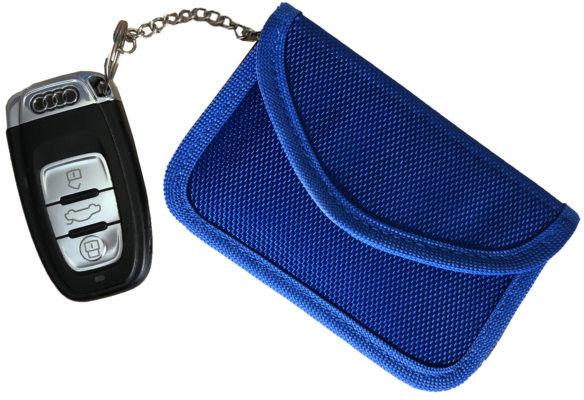 Etui zabezpieczające kluczyki z systemem Keyless M poziome niebieskie Darmowa dostawa