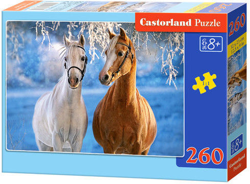 Puzzle Castor 260 - Konie zimą, The Winter Horses