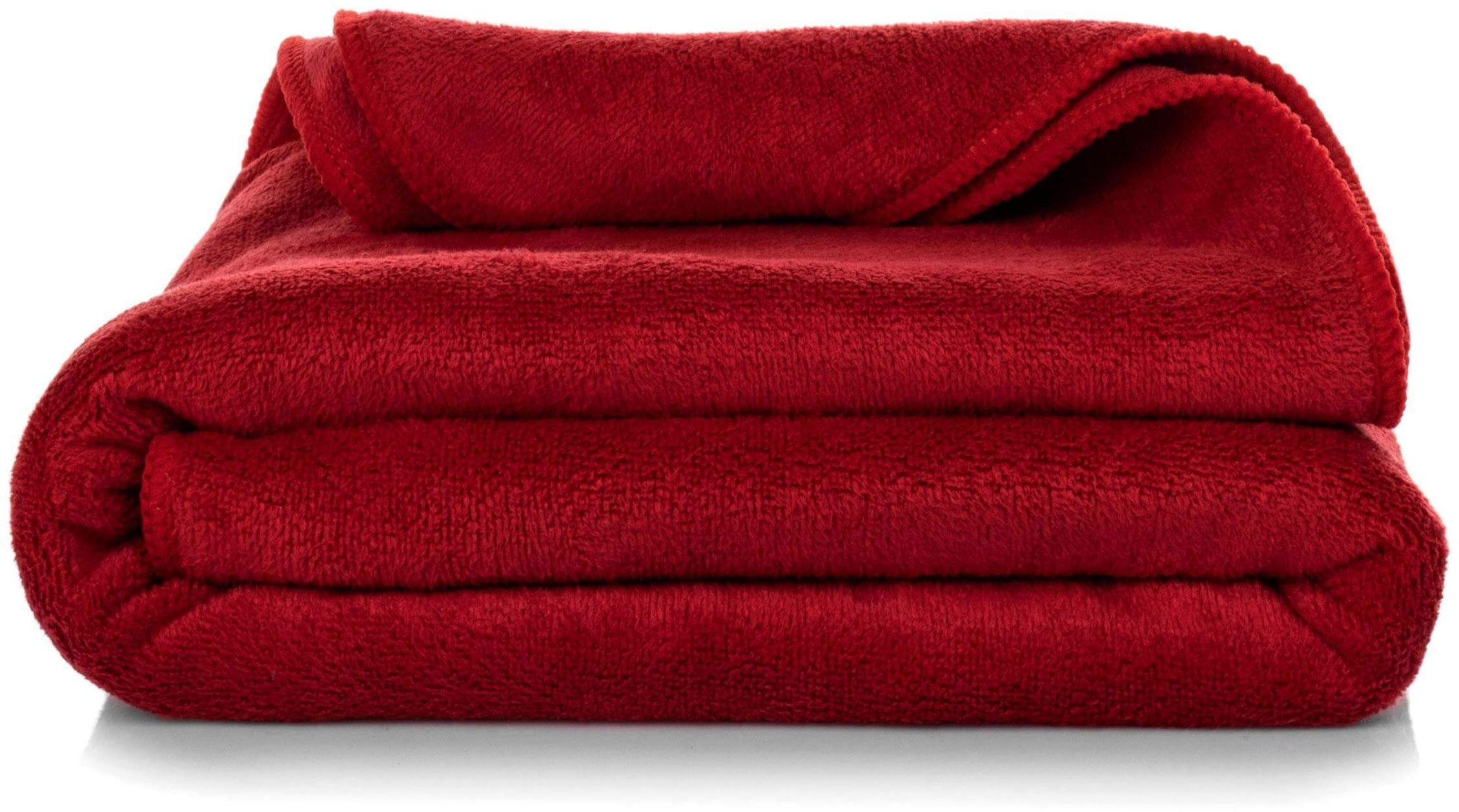 Ręcznik Kąpielowy Eurofirany Amy 04 380 g/m2 Czerwony 50x90