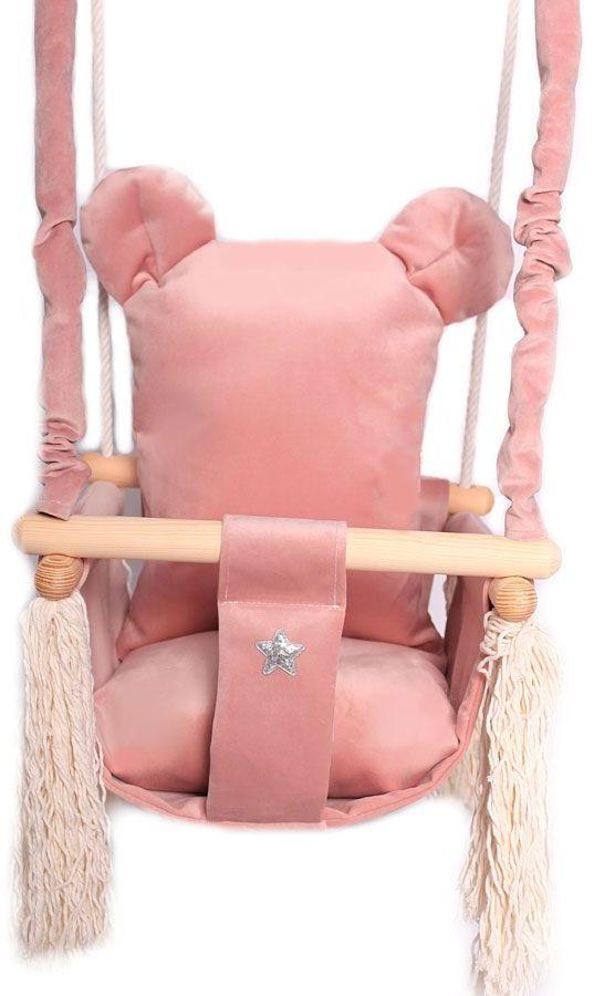 Różowa huśtawka miś dla dziewczynki - Endo
