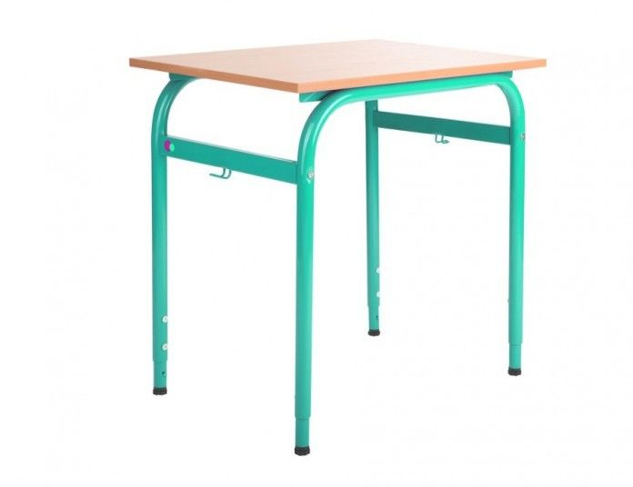 Ławka, stół szkolny 1 osobowy z regulacją 2- 4, 4- 6 Bartek 700x500