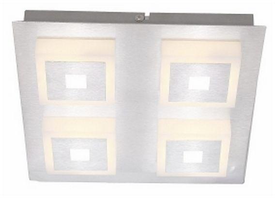 Reality plafon lampa sufitowa Quadratino 824744-07 aluminium szlif. LED 20W 3000K 24cm / 24h