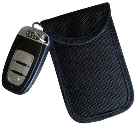 Etui zabezpieczające kluczyki z systemem Keyless M pionowe czarne Darmowa dostawa