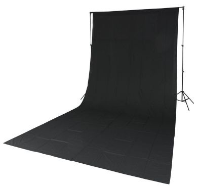 Quadralite tło tekstylne czarne 2,85x6m
