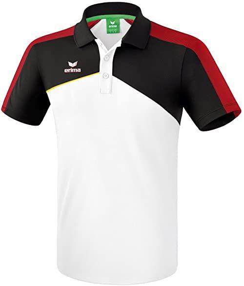Erima Premium One 2.0 koszulka polo dla dzieci, uniseks biały Weiß/Schwarz/Ro 140