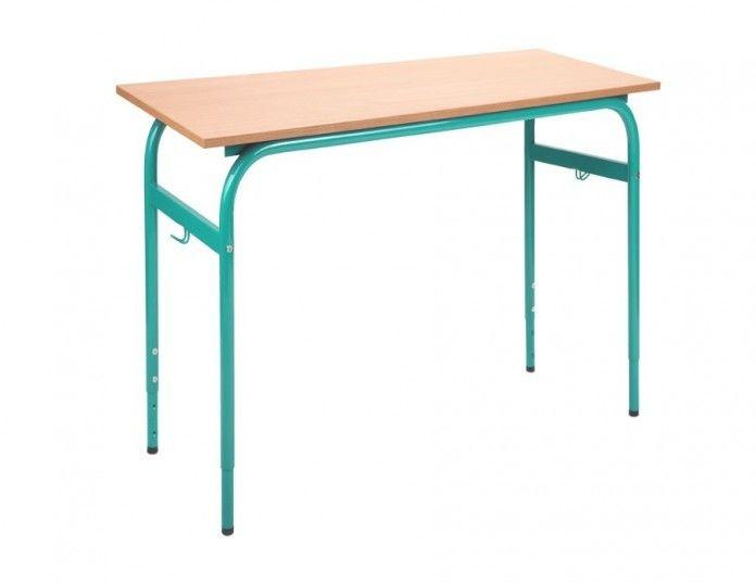 Ławka, stół szkolny 2 osobowy z regulacją 2- 4, 4- 6 Bartek 1300x500