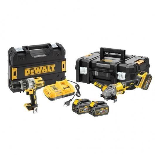 akumulatorowy zestaw Combo DCD996 + DCG414 18V i 54V Li-Ion 2x6,0Ah DeWALT [DCK2055T2T-QW]