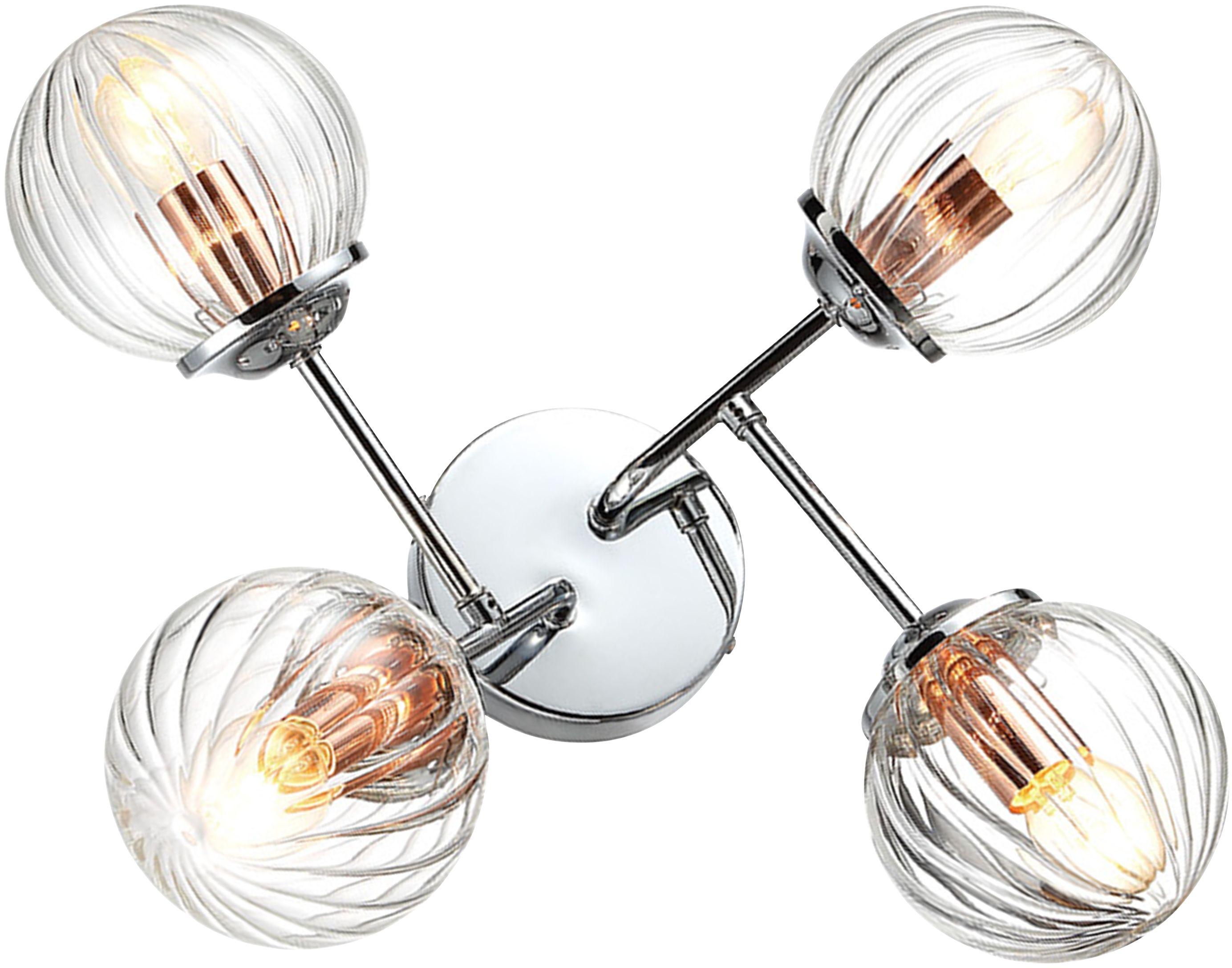 Candellux BEST 34-67265 plafon lampa sufitowa chrom + miedź 4X40W E14 33cm