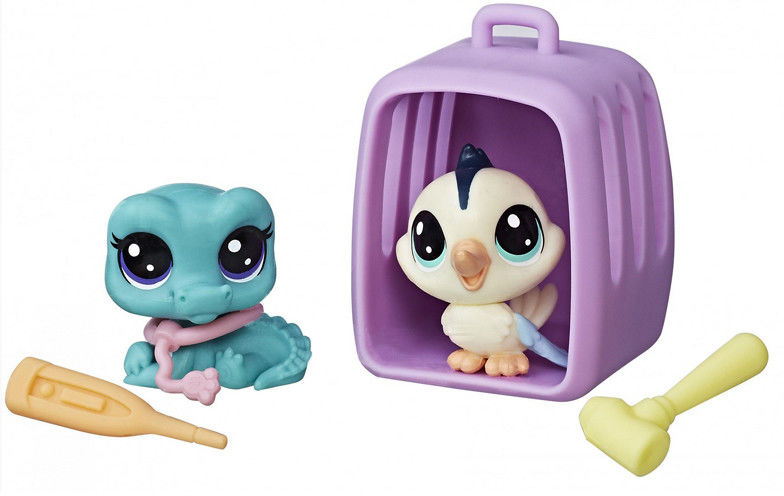 Littlest Pet Shop - Kanarek i jaszczurka z akcesoriamik B9948
