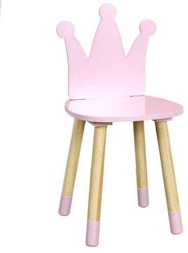 Krzesło dziecięce różowa księżniczka