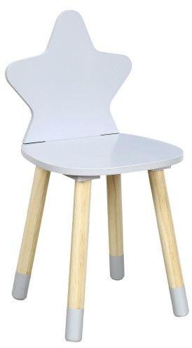 Krzesło dziecięce szara gwiazdka