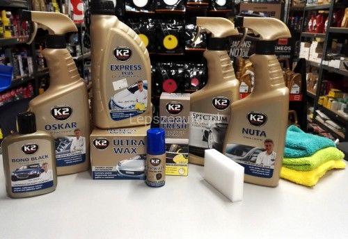 K2 Zestaw do mycia szyb super połysk +7 produktów