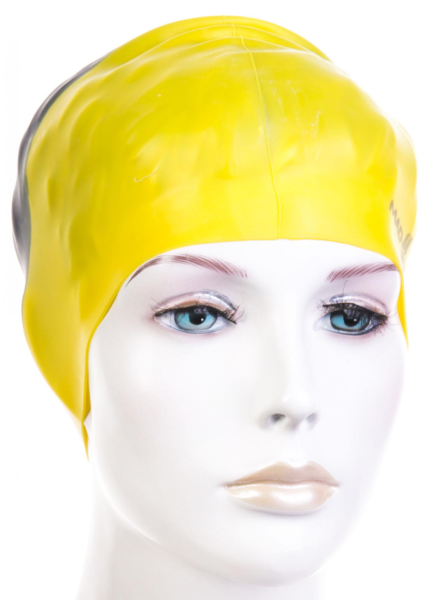 Czepek pływacki mad wave multi big silicone żółty