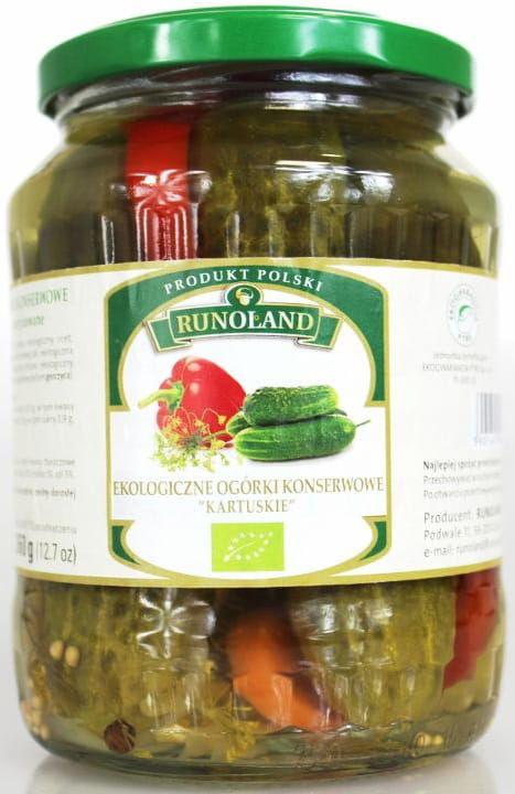 Ogórki konserwowe kartuskie bio 670 g - runoland