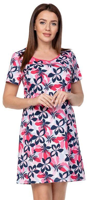 Damska koszula nocna Louise czerwone kwiatyXXL