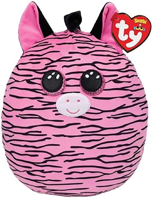 Ty UK Ltd 39194 Zoey Zebra Squish A Boo pluszowa zabawka, wielokolorowa, 30 cm