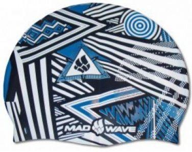 Czepek pływacki mad wave stripes silicone niebieski