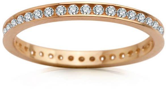 Staviori pierścionek/obrączka cyrkonia. żółte złoto 0,333. szerokość 1,8 mm. grubość 1,4 mm.