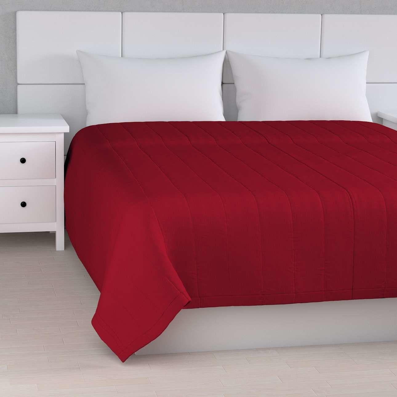 Narzuta pikowana w pasy, czerwony, szer.170  dł.210 cm, Etna