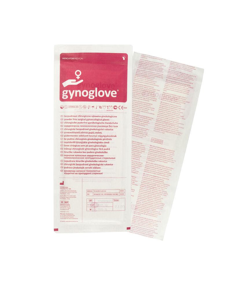 Rękawiczki lateksowe bezpudrowe - Z rękawem - Gynoglove