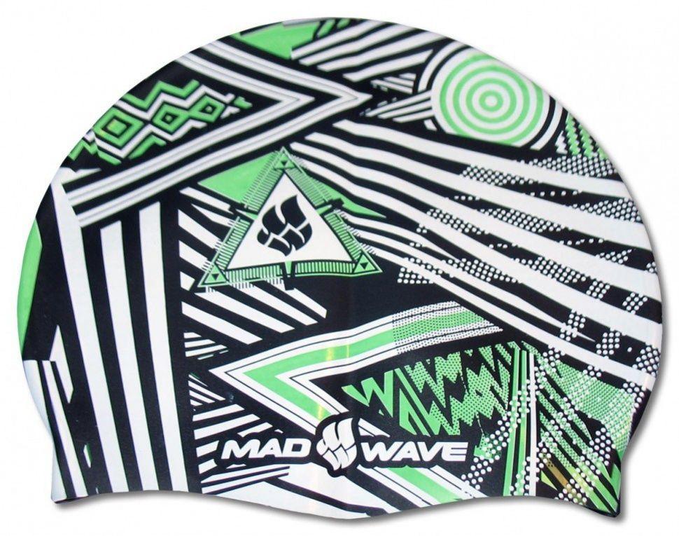 Czepek pływacki mad wave stripes silicone zielony