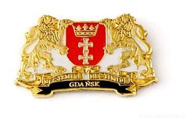Herb Gdańsk - przypinka