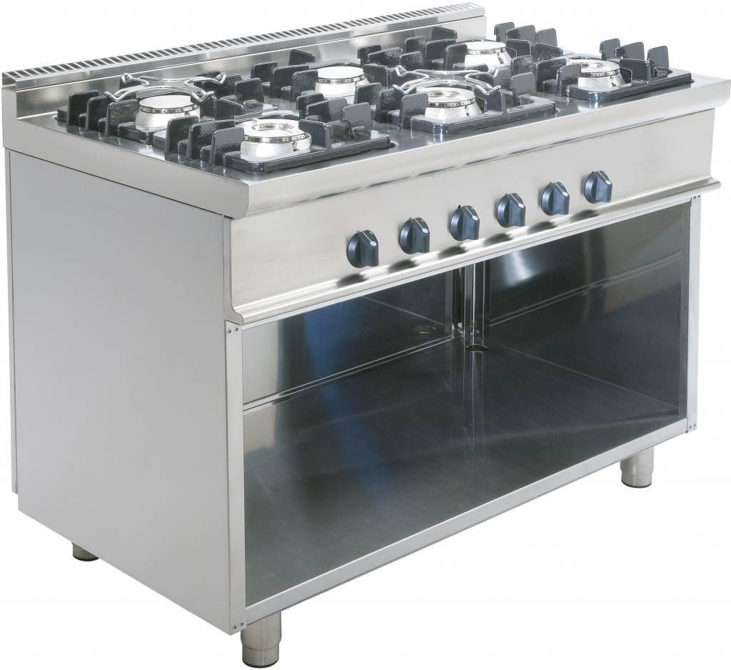Kuchnia gazowa 6 palnikowa 36000W
