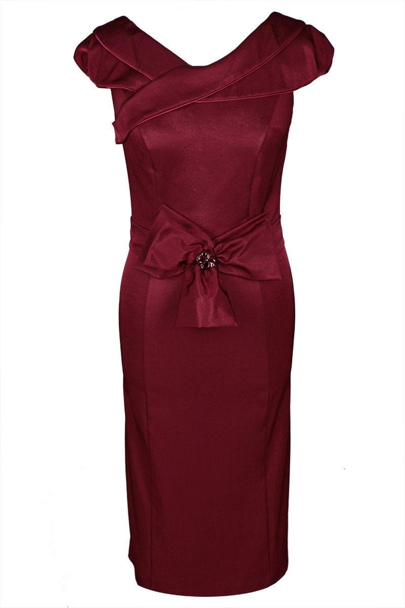 Sukienka FSU243 BORDOWY