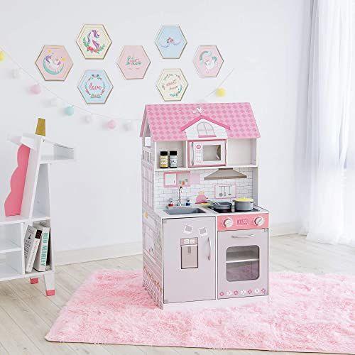 Teamson Kids TD-12515P Ariel kuchnia do zabawy, różowy/szary