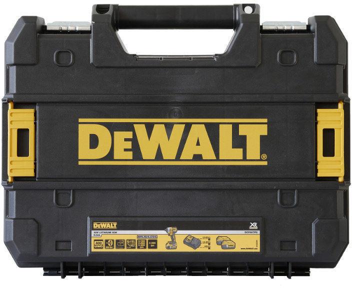 otwarta torba narzędziowa z rączką aluminiową i paskiem na ramię TStak DeWALT [DWST82990-1]