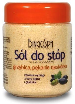 Sól do Stóp ze skłonnościami do Grzybicy i Pękania Naskórka 550g Bingospa