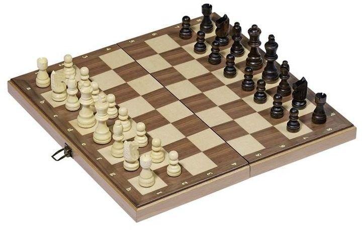Szachy w drewnianej skrzynce na zawiasach II 56922-Goki, gry logiczne