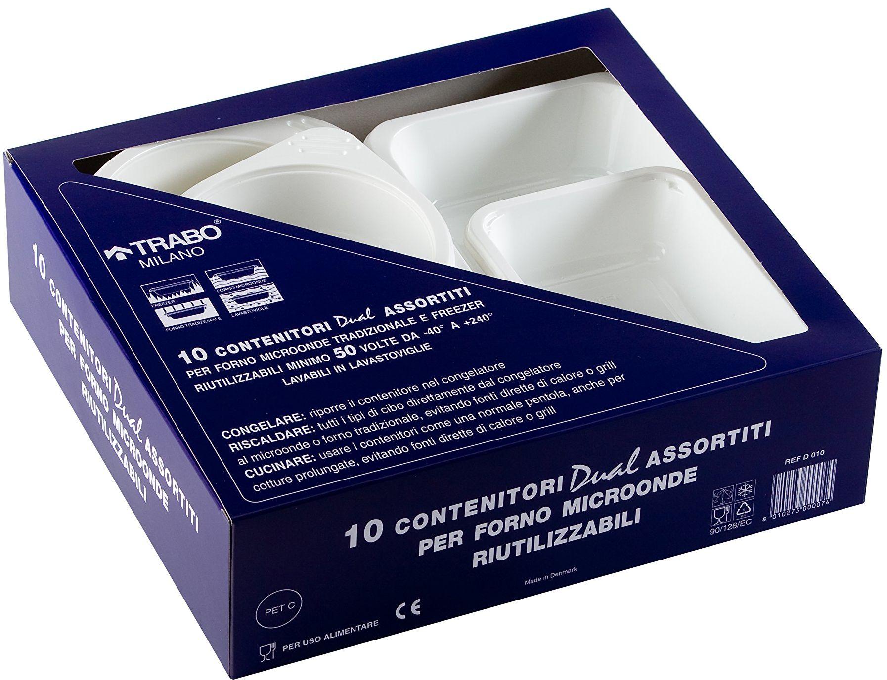 Trabo D010 zestaw do kuchenki mikrofalowej, biały