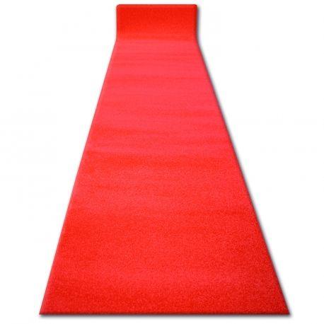 Chodnik SKETCH czerwony - Gładki Jednolity - Do ślubu, do kościoła
