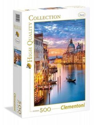 Puzzle Clementoni 500 - HQ - Wenecja nocą, Lighting Venice
