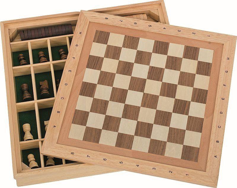 Zestaw gier 3w1 szachy warcaby i młynek 56953-Goki, gry planszowe dla dzieci
