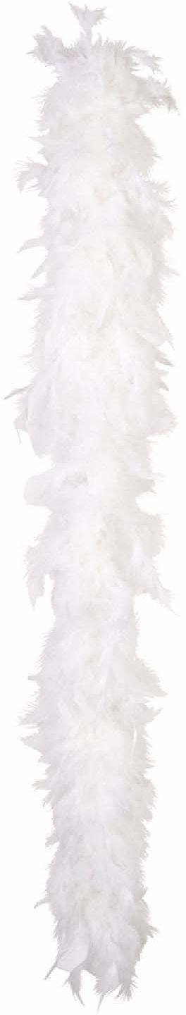 Boland 52612 Boa z piórami, dodatek, biały, szal, lata 20-te, The Great Gatsby, impreza tematyczna, karnawał