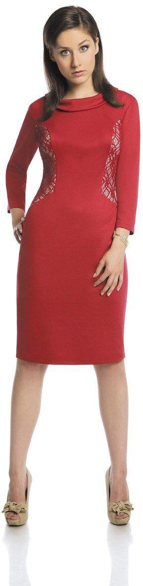 Sukienka FSU425 RUBINOWY