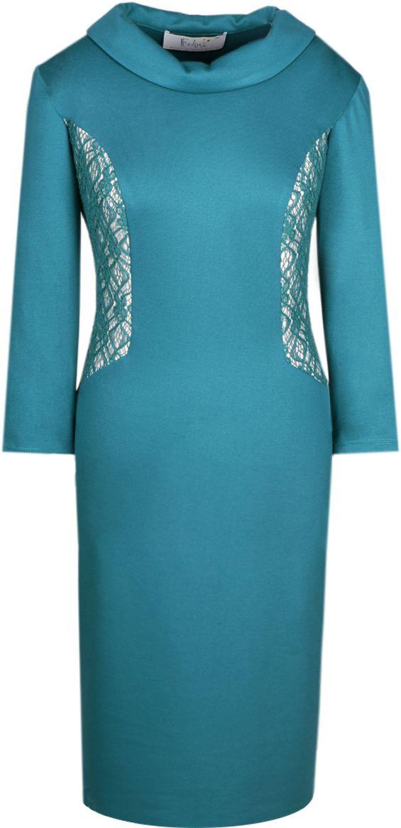 Sukienka FSU425 ZIELONY MORSKI