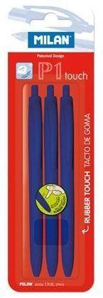 Długopis P1 Touch niebieski (3szt) MILAN