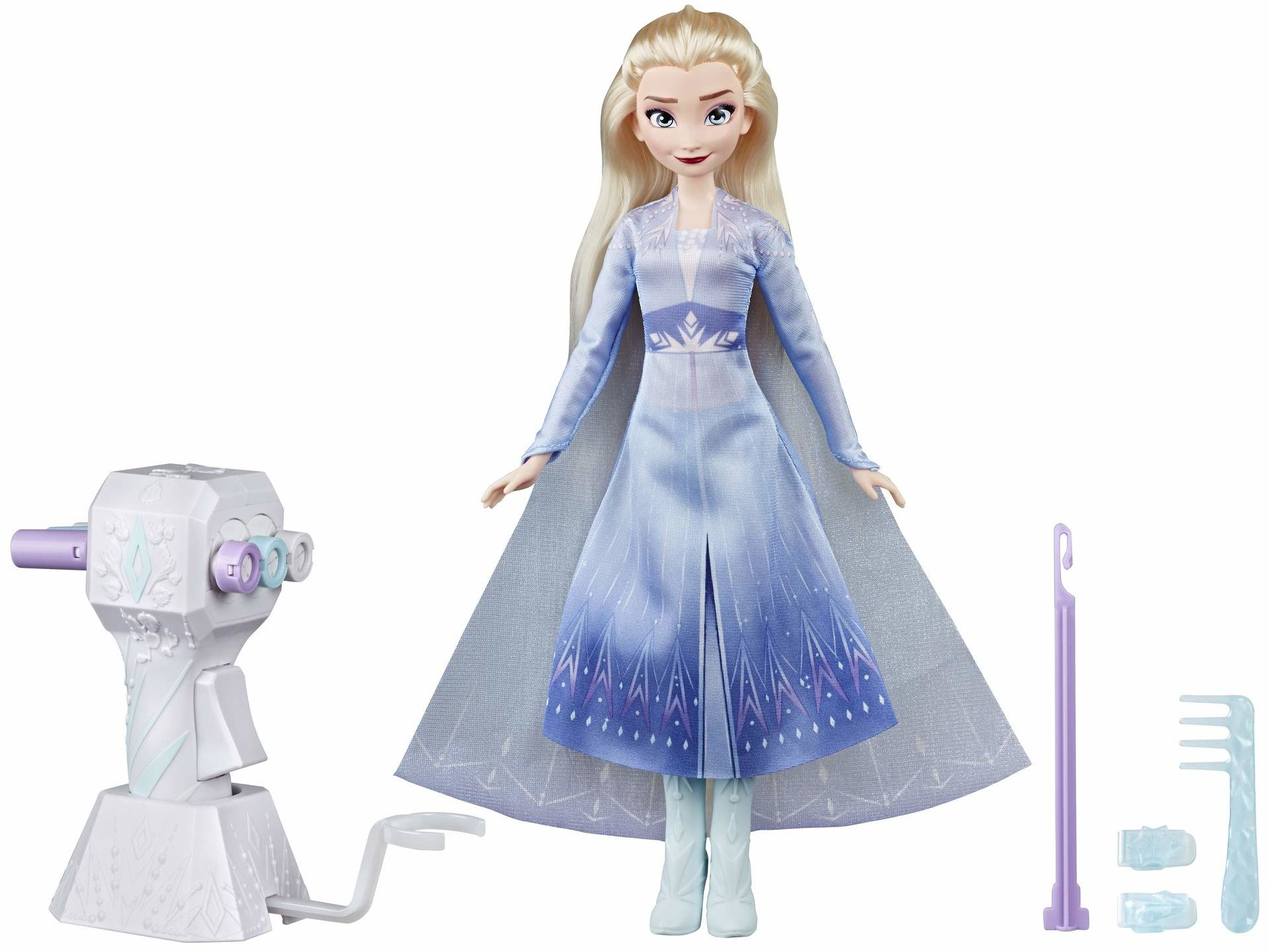 Disney Kraina Lodu Lodu Lodu Lodu Lalka z bardzo długimi włosami blond, modelarką i spinkami do włosów  zabawka dla dzieci od 5 lat